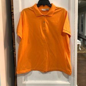 2/$12 orange white stag polo ladies XL